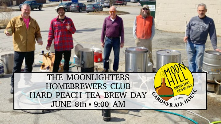The Moonlighters Homebrewers Club Hard Peach Tea Brew Day