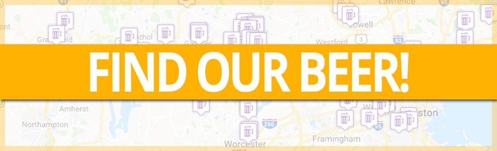 "image of text ""Find our Beer"" on a map background"