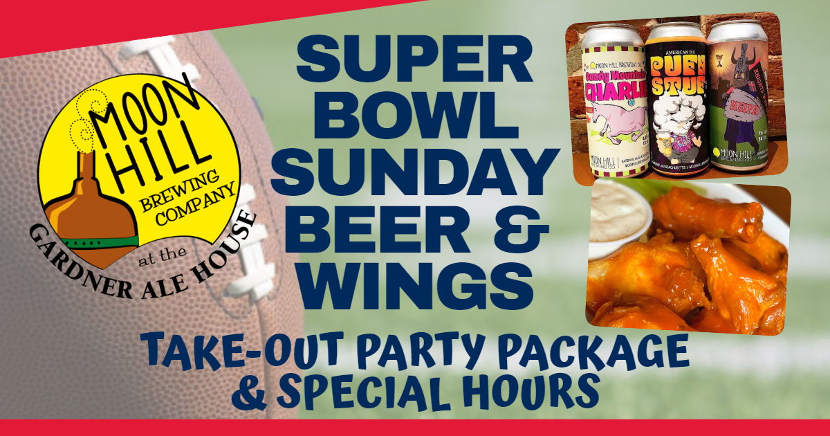 Super Bowl Sunday Special Hours and Beer & Wings Take-Out Party Package