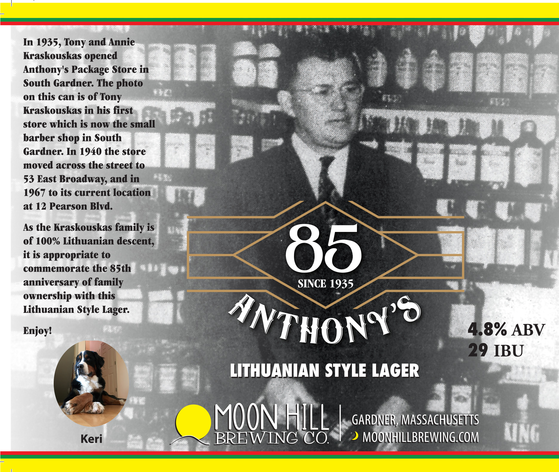 New Release – Anthony's 85th Anniversary Commemorative Lithuanian Lager