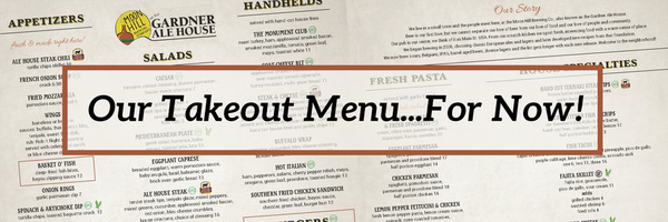 New Takeout Menu…For Now!